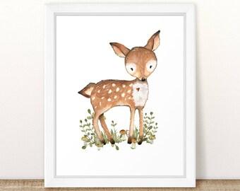 Baby Boy. Deer Nursery Art. Woodland Nursery Boy. Woodland Nursery Decor. Printable Deer Art. Printable Nursery Picture. Nursery Decor. 8x10