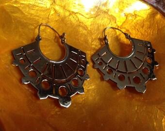 Tribal fan earrings