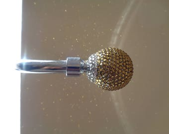 Curtain hold-backs crystalised with over 1000 gold and clear Preciosa TM crystals