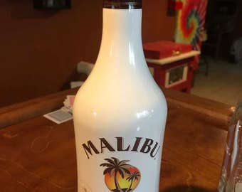 Malibu coconut rum bottle lamp