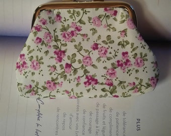 """small wallet retro """"Fabric flowers"""""""
