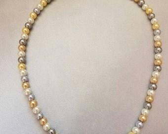 """16""""  Multi-colored Pearl Necklace"""
