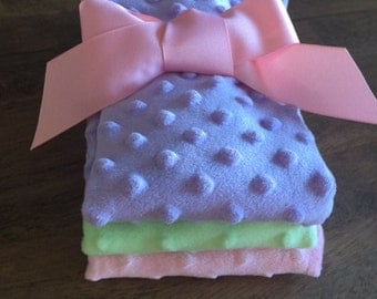 Set of 3 Minky Burp Cloths