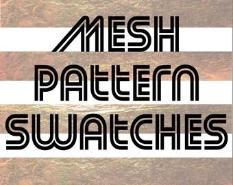 Adobe Illustrator fabric swatches; Fashion Illustration ai file pattern design; mesh pattern