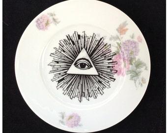 Vintage Dish All Seeing Eye