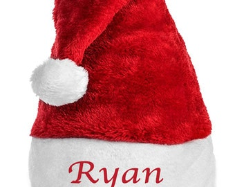 Personalized Santa Hat- Embroidered with your choice of words and color