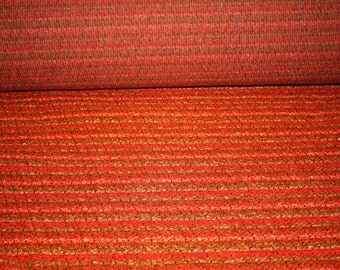 Red Stripped Vintage Upholstery