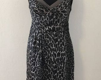 Nanette Lepore - Grey Silk Leopard Dress - Women's 4