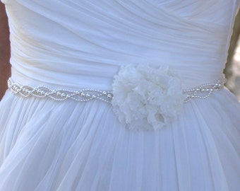 Preserved flowers wedding belt Mia - bridal belt
