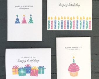 Happy Birthday Card Set - Set of 8