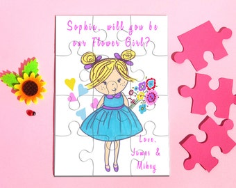 Will You Be My Flower Girl Puzzle, Personalized Flower Girl Puzzle, Be my Flower Girl, Puzzle Proposal, Asking Flower Girl Jigsaw, Invites