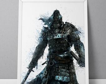 For Honor print, Samurai print, For Honor poster, Samurai poster, The Chosen game poster,  N.001