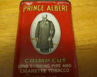 Vintage Prince Albert Pipe and Cigarette Tobacco Tin free shipping in u s a