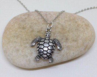 Turtle Necklace, Sea Turtle Necklace, Sealife Necklace, Animal Jewelry, Bridesmaid Gifts
