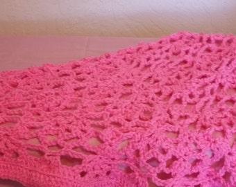 Pink Crochet Kids Shawl
