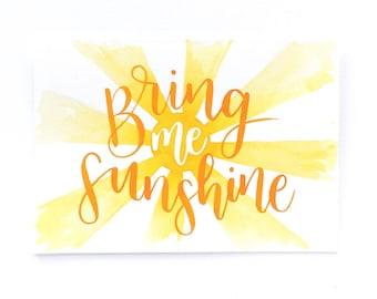 Greetings card: Bring me sunshine!