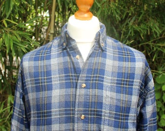 Vintage Checked Flannel Shirt - Size Medium