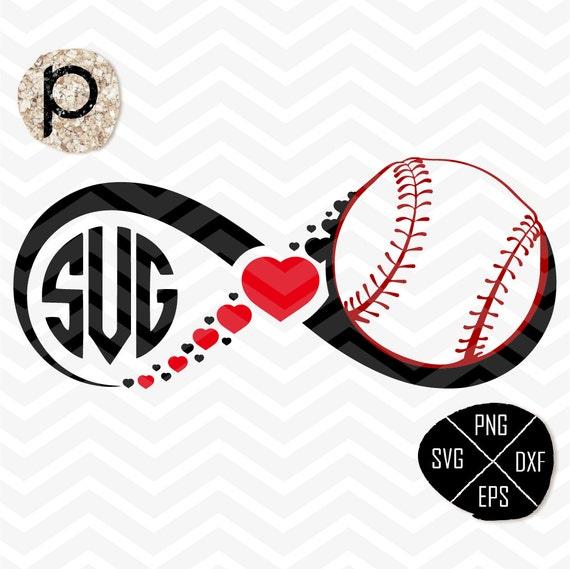 Baseball Heart Svg*baseball Mom*baseball Infinity*baseball