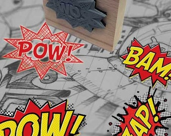 Pow Pop Art Rubber Stamp