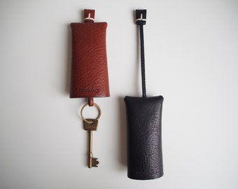 Leather Key Case, Leather Key Holder, Leather Key Fob, Key Ring
