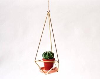 Himmeli Minicactus hanging planter porcelain plate