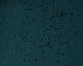 Cork Fabric (USA Seller) - Dark Teal - Vegan - EcoFriendly - Leather Alternative - Made in Portugal