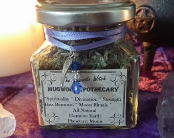 Wiccan Mugwort Apothecary Jar