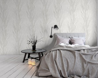 Botanical silhouette wallpaper, organic, natural, foraged, photographic , texture, paste the wall, bedroom, living room wallpaper.