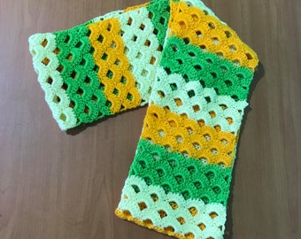 Citrus inspired infinity scarf