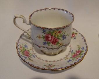 Royal Albert Petit Point Teacup and Saucer #778676