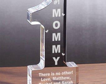 Personalized 1 Mom Keepsake Custom Name Gift