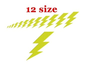 Lightning bolt embroidery design. Machine embroidery. Super hero design. Lightning Bolt Flash.  sc 1 st  Etsy & Lightning bolts | Etsy azcodes.com