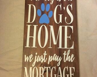 Dog Wall Decor wood dog house | etsy