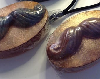 Savon monsieur moustache - Mr mustache on a rope soap