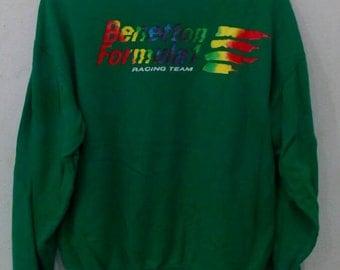 Rare!! Vintage Benetton sweatshirts L size
