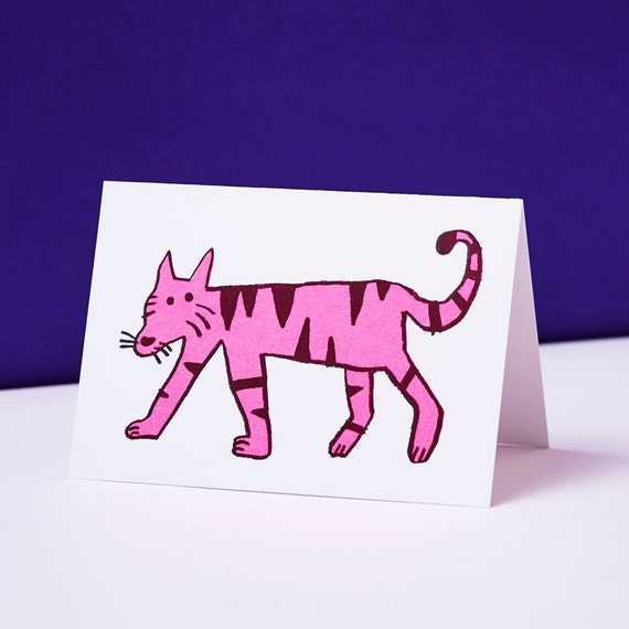 Cat Birthday Card, Cat Lover Gift, Cat Greetings Card, Cats, Funny Birthday Card, Greetings Card, Tiger, Kitten, Cat Print