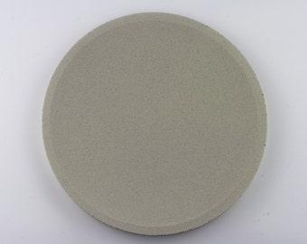 Round top in Green Khaki concrete / / empty Pocket concrete / / decorative concrete tray / / concrete tray / / cast-iron serving tray