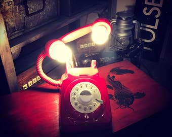Red Retro Telephone Floating Light