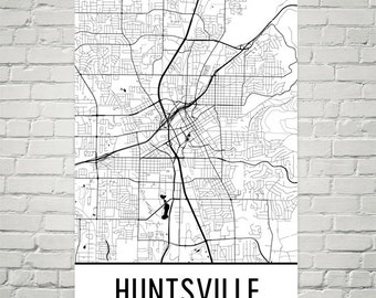 Huntsville Map, Huntsville Art, Huntsville Print, Huntsville AL Poster, Huntsville Wall Art, Huntsville Gift, Map of Huntsville, Art Print