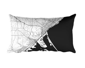 Duluth Pillow, Duluth Decor, Duluth Cushion, Duluth Throw Pillow, Duluth Gift, Duluth Throw, Duluth MN Map, Duluth Art, Duluth, Duluth Minn