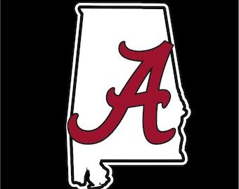 University of Alabama Decal, Alabama Crimson Tide Decal, Roll Tide Decal