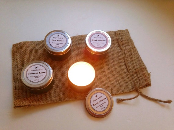 MIX & MATCH >> 4 tiny 2 oz candles >> discount is 10% off!