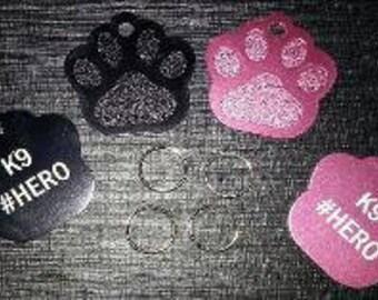 Medal dog K9 pink or black