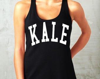 KALE- tank top womens tank cotton shirt