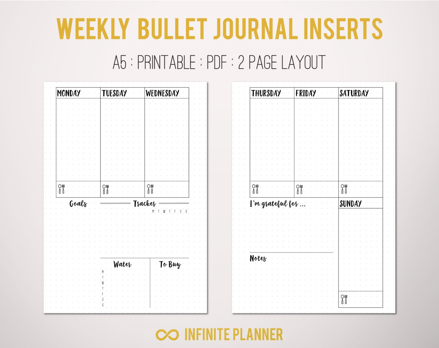Gratifying image pertaining to bullet journal template printable