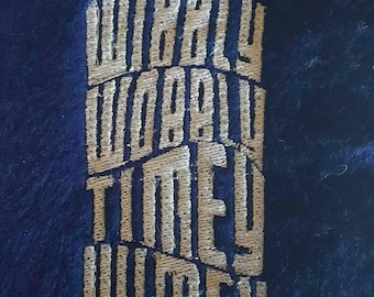 Wibbly Wobbly Timey Wimey Doctor Who Embroidery Design, Dr Who DIGITAL FILE