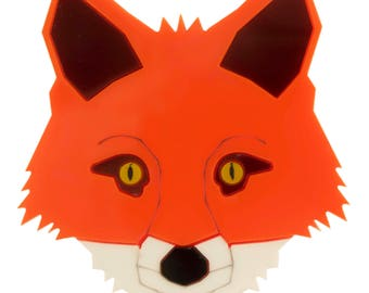 Fox head brooch