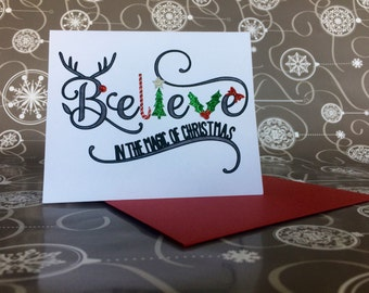 Handmade Christmas Card - Believe in the Magic of Christmas