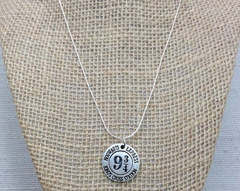 Harry Potter Jewelry, Harry Potter Gift, Platform 9 3/4 Necklace, Platform 9 3 4, Potterhead, Potter Jewelry, Harry Potter School