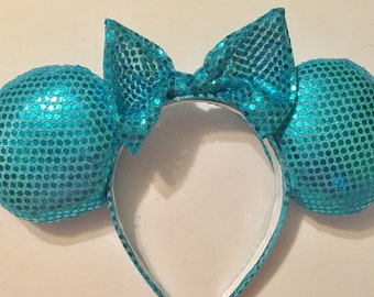 Sparkly/shiny Turquoise Mickey Ears